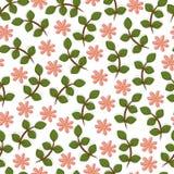 Seamless floral background,  illustration. Seamless floral backdrop,  illustration Stock Image