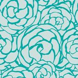 Seamless floral background monochrome roses. Seamless floral background with hand drawn monochrome roses. Abstract vintage background with floral retro element stock illustration