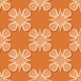 Seamless floral background. Orange 3d pattern. Vector illustration Royalty Free Stock Photography