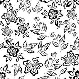 Seamless floral background, outline Stock Photography