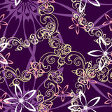 Seamless floral background pattern Stock Photo