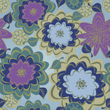 Seamless Floral Background Pattern Stock Images