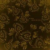 Seamless floral background pattern stock illustration