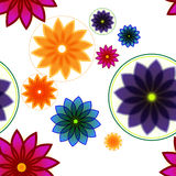Seamless Floral Background Or Pattern. Made prom few color flowers Royalty Free Stock Photos