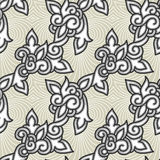 Seamless floral background pattern Royalty Free Stock Photography