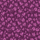 Seamless floral background pattern, vector Stock Image
