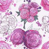 Seamless floral background Stock Photography