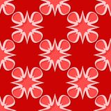 Seamless floral background. Red 3d pattern. Vector illustration Royalty Free Stock Image
