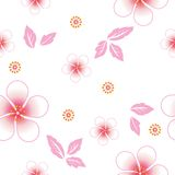 Seamless floral background. Repeat many times. Stock Photo