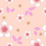 Seamless floral background. Repeat many times. Stock Images