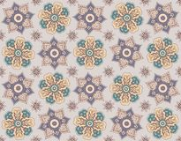 Seamless floral background, repeating elements. Seamless floral background, repetitive elements, bright colors complex Royalty Free Stock Image