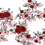 Seamless floral background with rose Royalty Free Stock Photos