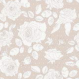 Seamless Floral Background With  Roses. Stock Images