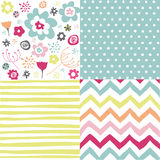 Seamless floral background set Royalty Free Stock Photos