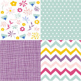 Seamless floral background set Royalty Free Stock Photography