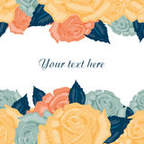 Seamless floral background with text. Stock Photography