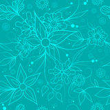 Seamless floral background . Textile or wallpaper pattern. Blue seamless floral repeating pattern for textile or wallpaper Royalty Free Stock Photos