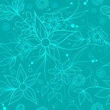 Seamless floral background . Textile or wallpaper pattern. Blue seamless floral repeating pattern for textile or wallpaper Royalty Free Stock Photography