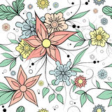 Seamless floral background . Textile or wallpaper pattern. Colorful seamless floral repeating pattern for textile or wallpaper Royalty Free Stock Photos