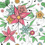 Seamless floral background . Textile or wallpaper pattern. Colorful seamless floral repeating pattern for textile or wallpaper Stock Images