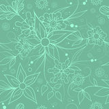 Seamless floral background . Textile or wallpaper pattern. Green seamless floral repeating pattern for textile or wallpaper Royalty Free Stock Images