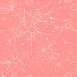 Seamless floral background . Textile or wallpaper pattern. Pink seamless floral repeating pattern for textile or wallpaper Stock Photo