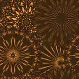 Seamless floral background. Tracery handmade nature ethnic fabric backdrop pattern with flowers. Vector. Stock Photo