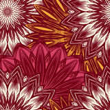 Seamless floral background. Tracery handmade nature ethnic fabric backdrop pattern with flowers. Vector. Stock Photography