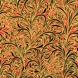 Seamless background of traditional Russian folk painting. Seamless floral background of traditional Russian folk art painting (hohloma royalty free illustration