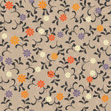 Seamless floral background in vector. Floral seamless backgrounds for design of fabrics and wallpapers in vector Royalty Free Stock Image