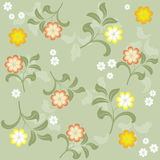Seamless floral background in vector. Floral seamless backgrounds for design of fabrics and wallpapers in vector Stock Photography