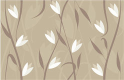Seamless floral background in vector. Floral seamless backgrounds for design of fabrics and wallpapers Royalty Free Stock Photography