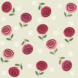 Seamless floral background in vector. Elements of design seamless backgrounds, plants and flowers Stock Photos