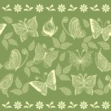 Seamless floral background in vector. Floral seamless backgrounds for design of fabrics and wallpapers Stock Photography