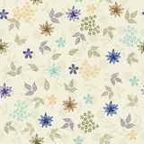 Seamless floral background in vector. Floral seamless backgrounds for design of fabrics and wallpapers Stock Photo