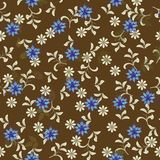 Seamless floral background in vector. Floral seamless backgrounds for design of fabrics and wallpapers Stock Image