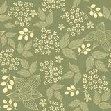 Seamless floral background in vector Stock Photo