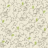 Seamless floral background in vector Royalty Free Stock Image