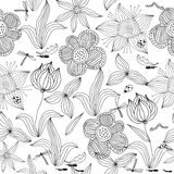 Seamless floral background in vector Stock Photos