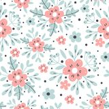 Seamless floral background. Vector illustration. Royalty Free Stock Photos