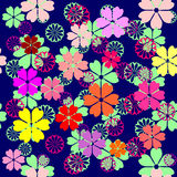Seamless floral background. Vector illustrations Stock Photos