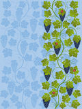 Seamless floral background with a vine Stock Photography