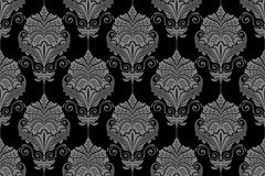 Seamless floral background - Wallpaper in the style of Baroque v Royalty Free Stock Photos