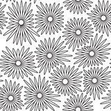 Seamless floral background with white and black color Royalty Free Stock Photography