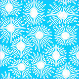 Seamless floral background with white and blue color Stock Photo