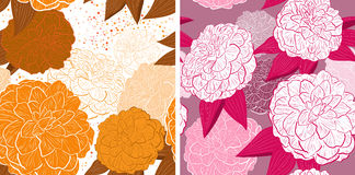 Seamless floral backgrounds Royalty Free Stock Images