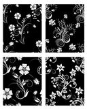 Seamless floral backgrounds set. Set of seamless vector floral backgrounds. For easy making seamless pattern just drag one of four group into swatches bar, and vector illustration
