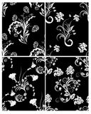 Seamless floral backgrounds set. Set of seamless vector floral backgrounds. For easy making seamless pattern just drag one of four group into swatches bar, and stock illustration