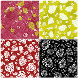 Seamless floral backgrounds set Royalty Free Stock Images