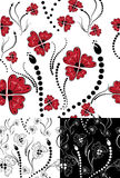 Seamless floral backgrounds set.  Royalty Free Stock Photo